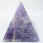 Chevron Amethyst Pyramid (Small)