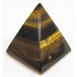 Tigers Eye Pyramid (Medium)