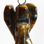 Tigers Eye Angel Pendant (Small)