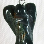 Bloodstone Angel Pendant (Small)