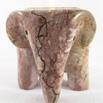 Marble Elephant Tea Light Holder