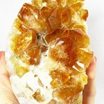 Standing Polished Citrine Cluster