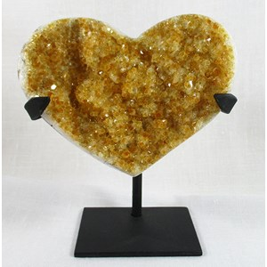 Citrine Heart and display stand