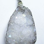 Angel Aura Quartz Cluster Pendant REDUCED