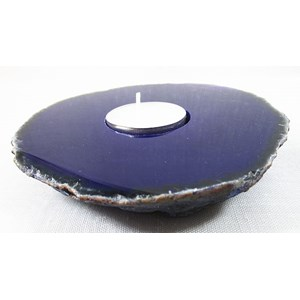 Purple Agate tea light Holder