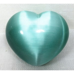 Pale Green Cats Eye Heart