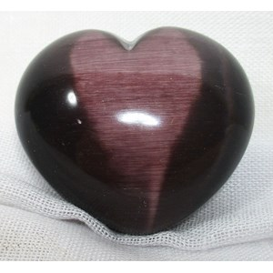 Purple Cats Eye Heart
