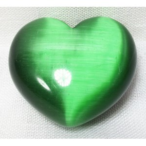 Green Cats Eye Heart