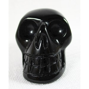 Black Agate Skull (Small)