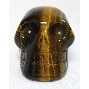Tigers Eye Skull (Small)