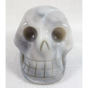 Grey Agate Skull (Medium)