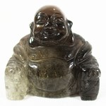 Smoky Quartz Happiness Buddha