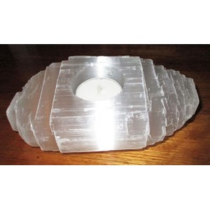 Selenite Rough Tealight Holder