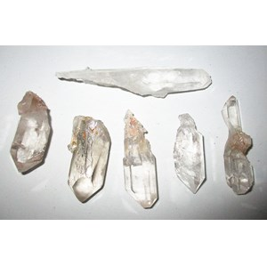Set of 6 Unusual Quartz Points