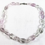Polished Amethyst Bead Necklace.
