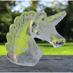Clear Quartz Unicorn Head