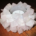 Rose Quartz Tealight Bowl