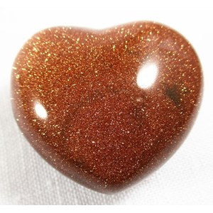 Red Goldstone Heart
