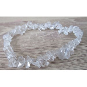 Clear Quartz Chip Bracelet (Large)