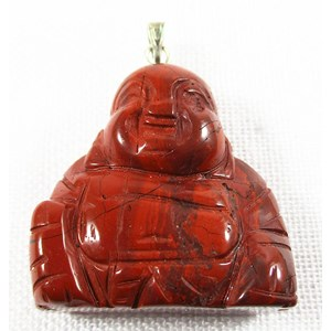 Red Jasper Happiness Buddha Pendant