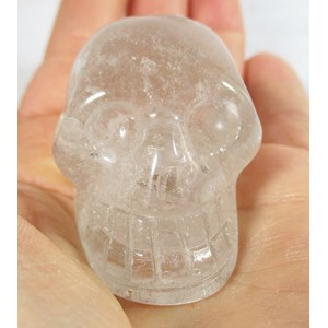 Pale Smoky Quartz Skull