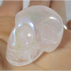 Aura Rose Quartz Skull (Small)
