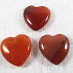 Set of Carnelian Hearts (Small)