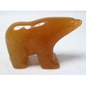 Peach Aventurine Bear (Small)