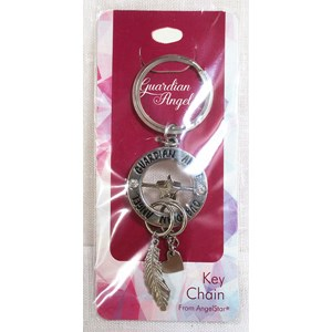 Guardian Angel Spinner Key Ring