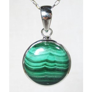 Malachite Circular Pendant (Smallish)