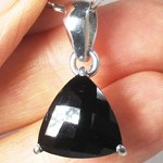 Black Spinel Faceted Pendant (Smallish)