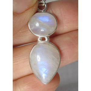 Double Rainbow Moonstone Pendant