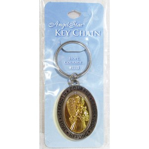 Strength and Healing Angel Key Ring
