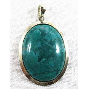 Malachite Howlite Oval Pendant REDUCED