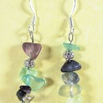 Fluorite Chip Earrings