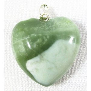 New Jade Heart Pendant (Small)