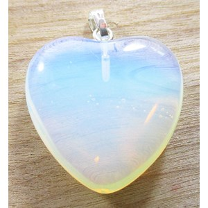 Opalite Heart Pendant (Small)
