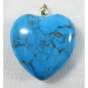 Turquoise Howlite Heart Pendant (Small) REDUCED
