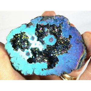 Purple and Turquoise Aura Quartz Geode