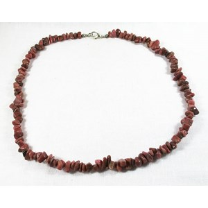 Rhodonite Chip Necklace
