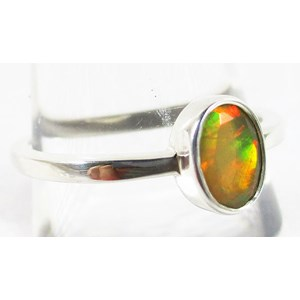 Fire Opal Ring (Size P)