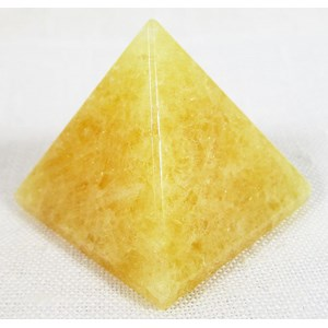 Orange Calcite Pyramid (Small)