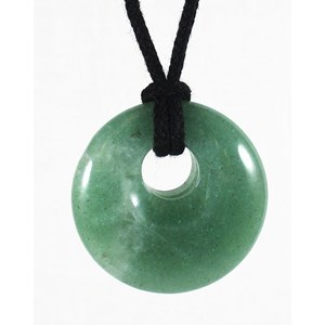 Aventurine Donut Necklace