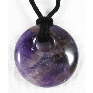 Amethyst Donut Necklace
