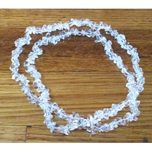 Quartz Chip Necklace (long)