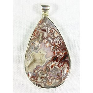 Crazy Lace Agate Drop Pendant