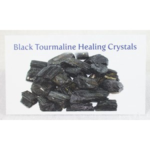 Black Tourmaline Healing Crystals Properties Card