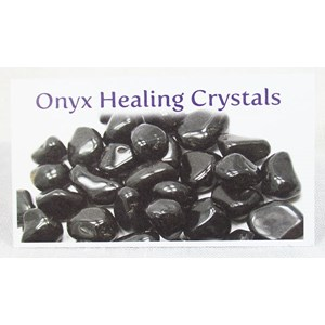 Onyx Healing Crystals Properties Card