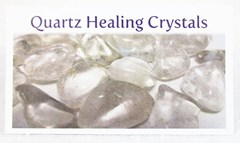 Quartz healing crystals properties card front