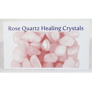 Rose Quartz Healing Crystals Properties Card